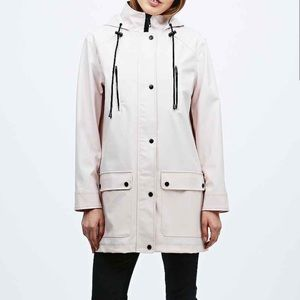 Urban Outfitters Pink rain jacket sparkle and fade